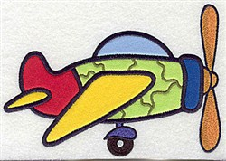 Camouflage Plane Applique embroidery design