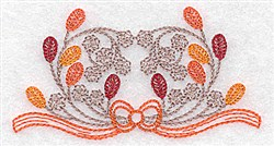 Berry & Leaf Motif embroidery design