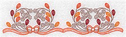Double Berry Border embroidery design