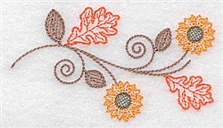 Fall Sunflower embroidery design