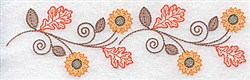 Fall Sunflower Border embroidery design