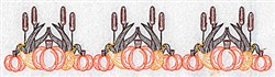 Border Of Pumpkins embroidery design