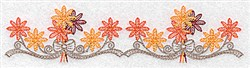 Fall Flower Border embroidery design