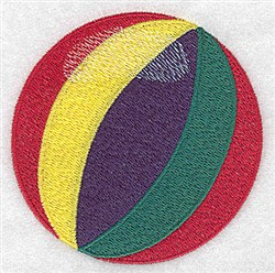Beach Ball embroidery design
