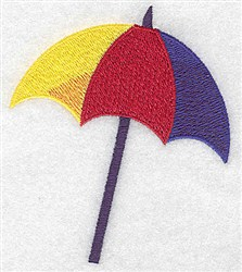 Beach Umbrella embroidery design