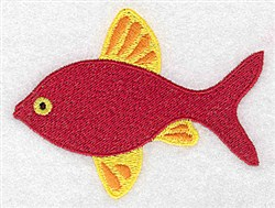 Red & Yellow Fish embroidery design