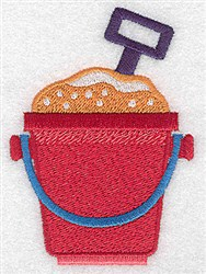 Beach Pail & Shovel embroidery design