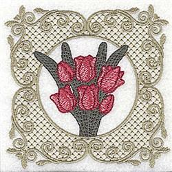 Victorian Tulip embroidery design