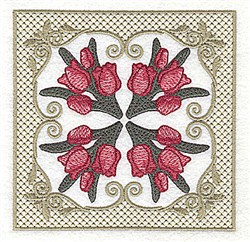 Tulip Bunches embroidery design