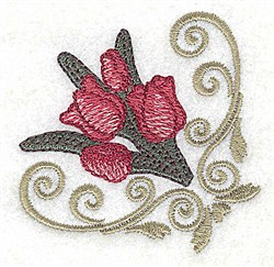 Tulip Corner embroidery design