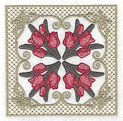 Victorian Tulips embroidery design