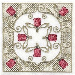 Tulip in Victorian Lace embroidery design