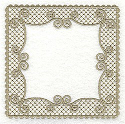 Victorian Lace Frame embroidery design