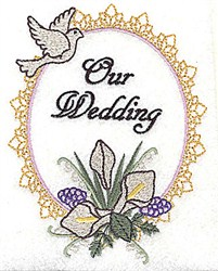 Our Wedding embroidery design