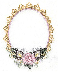 Lace Frame embroidery design