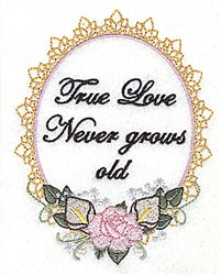 True Love Frame embroidery design