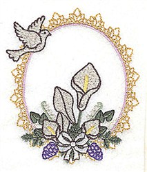 Dove Frame embroidery design