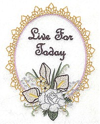 Live for Today Frame embroidery design