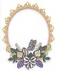Wedding Frame embroidery design