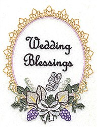 Wedding Blessings Frame embroidery design