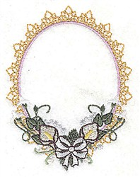 Flowers Frame embroidery design