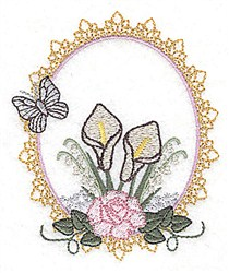 Butterfly Frame embroidery design