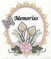 Memories Frame embroidery design