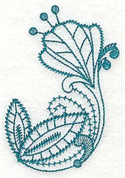 Stylized Floral embroidery design