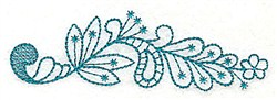 Floral Leaf embroidery design