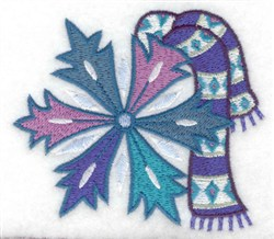 Scarf & Snowflake embroidery design