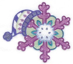 Winter Hat & Snowflake embroidery design