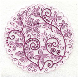 Whimsical Flowers B embroidery design