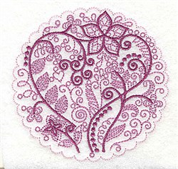 Whimsical Flowers E embroidery design