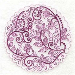Whimsical Flowers H embroidery design