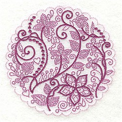 Whimsical Flowers I embroidery design