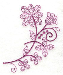 Whimsical Flower 1 embroidery design