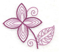 Whimsical Flower 3 embroidery design