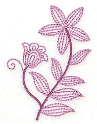 Whimsical Flower 4 embroidery design