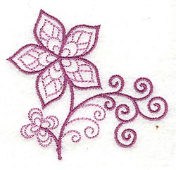 Whimsical Flower 6 embroidery design