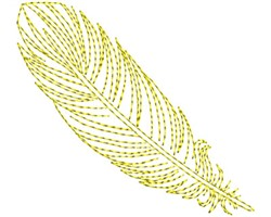 Gold Fancy Feather embroidery design