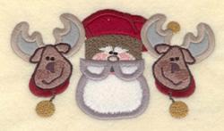Santa Reindeer Applique embroidery design
