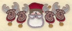 Four Reindeer Applique embroidery design