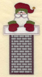 Santa In Tall Chimney embroidery design