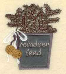 Reindeer Feed embroidery design