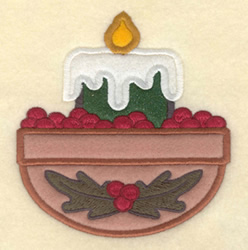 Candle Applique embroidery design
