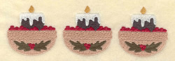 Three candles embroidery design