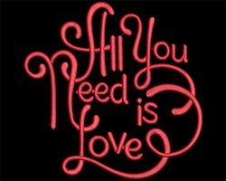 All You Need Is Love embroidery design