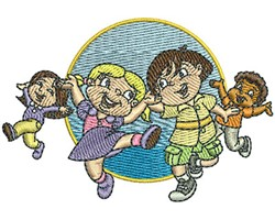 KIDS DANCING embroidery design