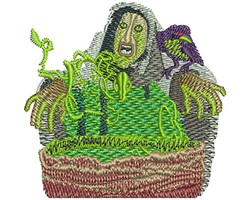 CAULDRON WITCH embroidery design