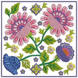 Flower Block embroidery design